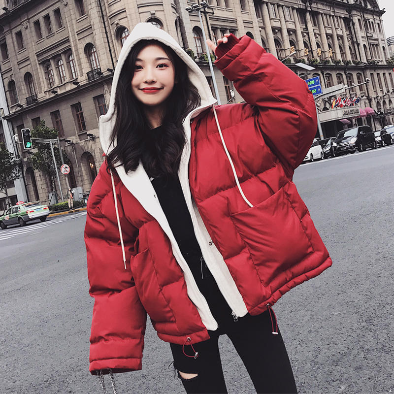 Oversized Coats BF Style Hooded Women Winter Jacket Fashion Thicken Loose Bread Coat Women Warm Cotton Padded Jacket   Parka   C4998