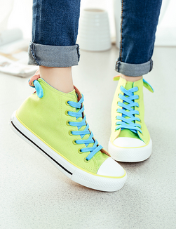 Free shipping 2015 autumn and winter high-top canvas shoes women casual lace solid color rabbit ears bow shoes