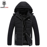 Winter Jacket Men Coats Classic Short Thick Inner Pocket And Threaded Knitted Cuffs Design Brand Parka