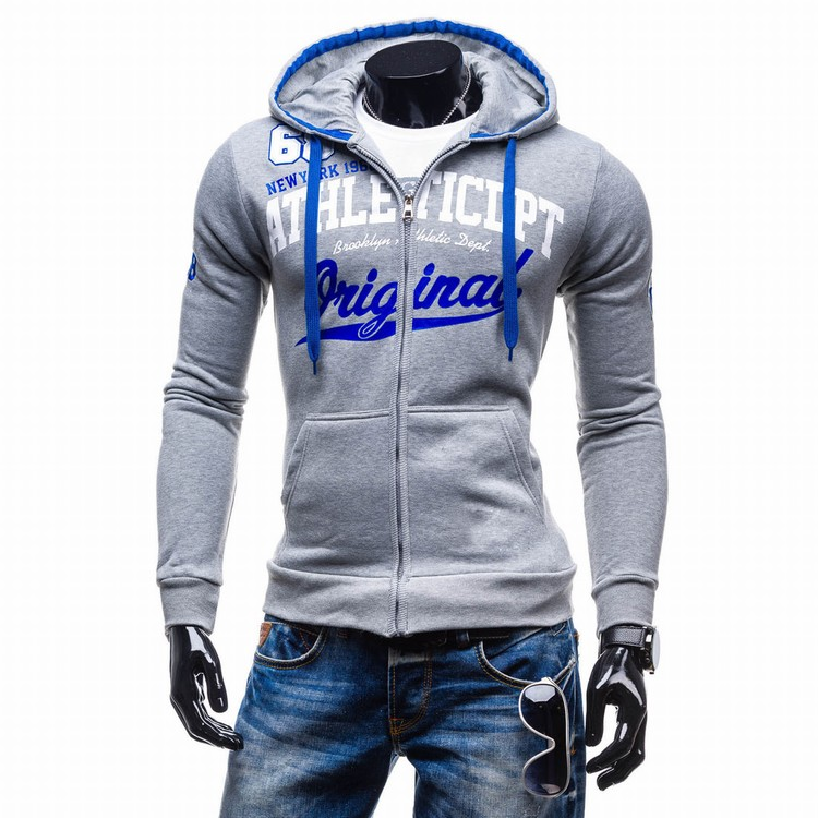 2017 Hoodies Men Sudaderas Hombre Hip Hop Mens Brand Letter Hooded Zipper Hoodie Sweatshirt   Suit Slim Fit Men Hoody XXL