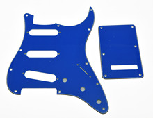 KAISH Blue ST Style SSS Guitar Pickguard,Trem Cover,Screws Fits For Strat