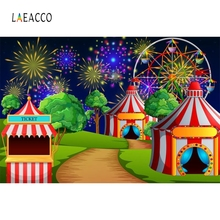 Laeacco Cartoon Firework Colorful Scene Circus Party Baby Children Photography Background Photographic Backdrop For Photo Studio