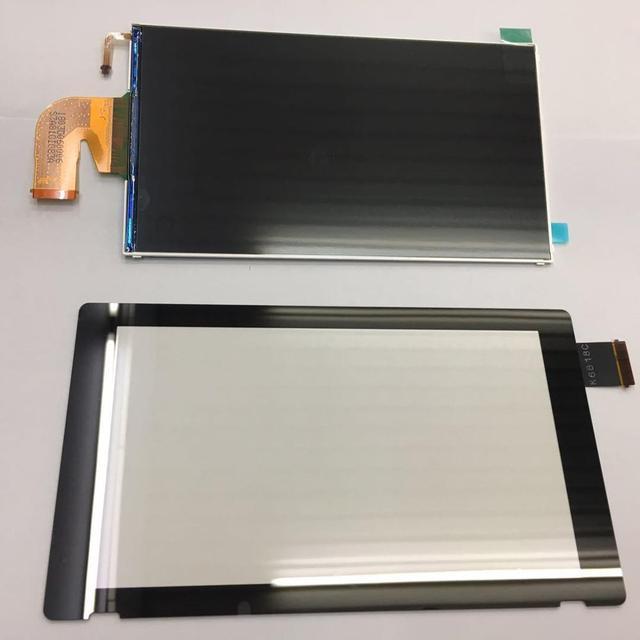 الأصلي ل نينتندو سويتش NS وحدة التحكم شاشة الكريستال السائل قطع غيار للشاشة التي تعمل باللمس