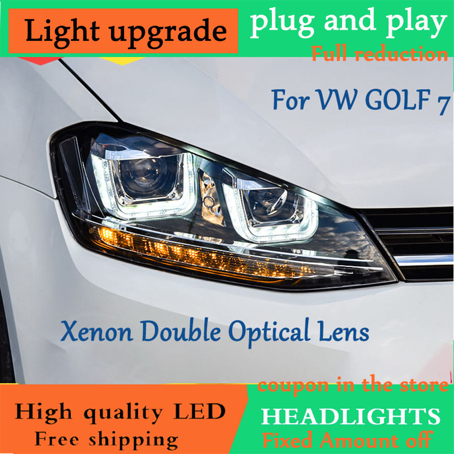 DY L Car Styling for Golf 7 MK 7 Headlight Assembly Golf 7 Head Lamp LED
