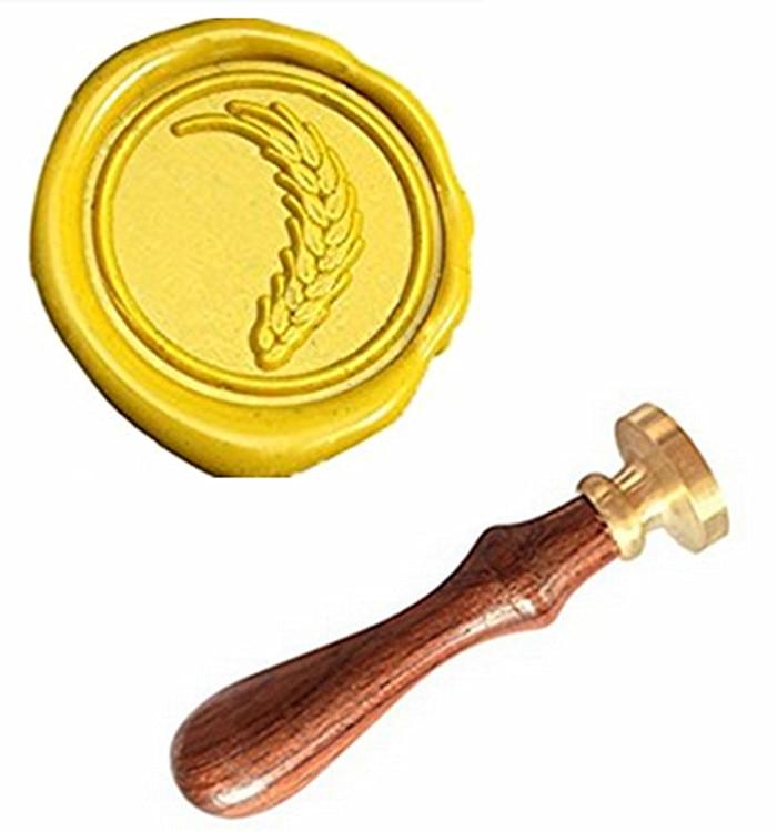 MDLG Grain Vintage Custom Picture Logo Luxury Wax Seal Sealing Stamp mdlg hippocampus vintage custom picture logo luxury wax seal sealing stamp