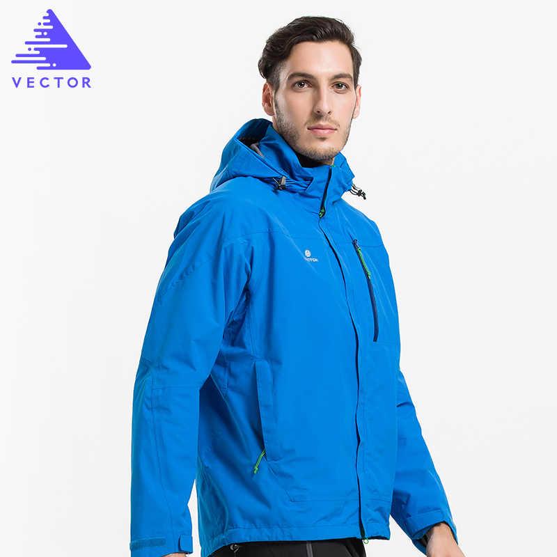 ベクトルソフトシェルジャケットの男性防風防水屋外のジャケット男性熱冬のハイキングジャケット Windstopper ウインドブレーカー 60023