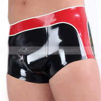 Latex Men Shorts Boxer Sexy Rubber Latex Male Outfit Underwear Panties Plus Size XXXL Custom Made S LPM092
