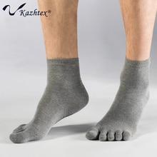 C314108 Kazhtex мужская Серебряный Волокна Антибактериальные toe Носки 5 пальцев носки Дышащая Дезодорации Предотвращения авитаминоза 3 пар/лот