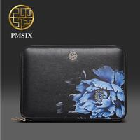 Genuine Leather Handbag Pmsix 2016 Fashion Chinese Wind Evening Bag Embossed Clutch Clip Buns