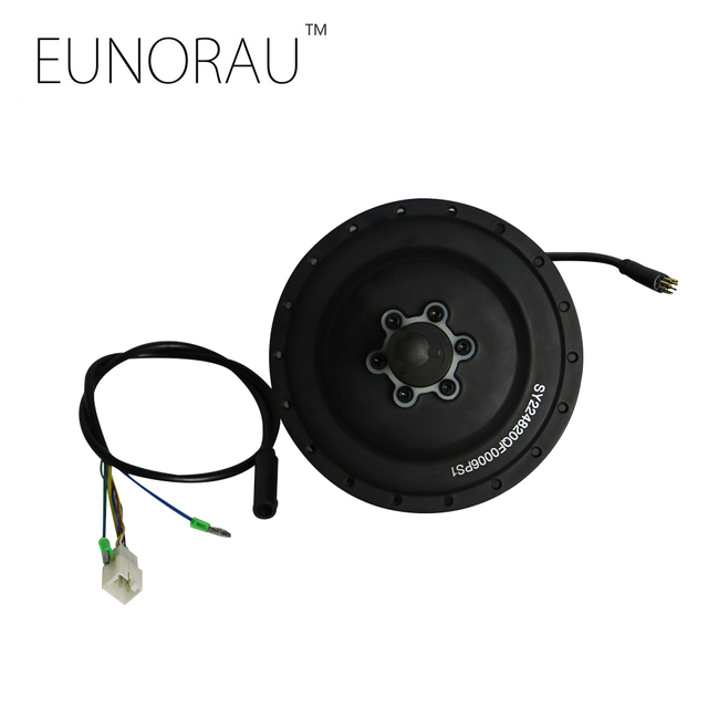 Envío libre shengyi CST 48V500W negro trasero hub motor 255 RPM sensor de velocidad integrado