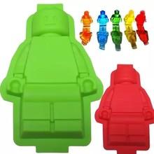 1 шт. DIY Fondant (сахарная) Инструменты для тортов 100% пищевая Силиконовые Lego формы супер большой лего-робот формы торт форма для льда Форма для вы...
