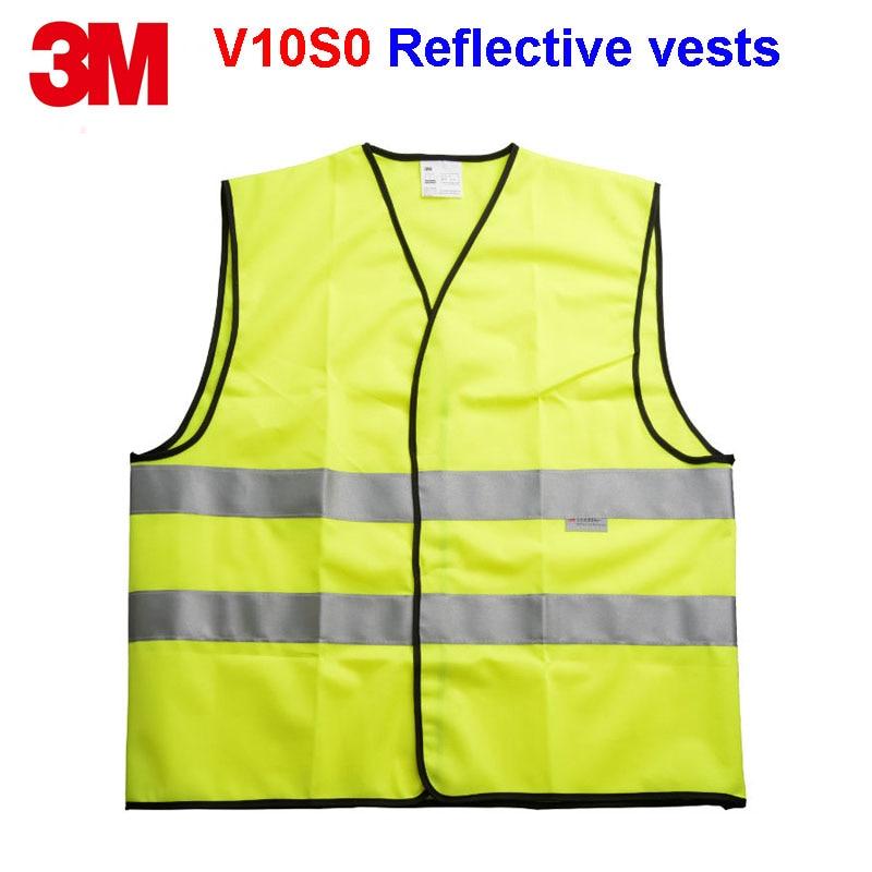 3M V10S0 Reflective vests Original product Reflective jacket Night work Riding Outdoor sports Safety alert Vest
