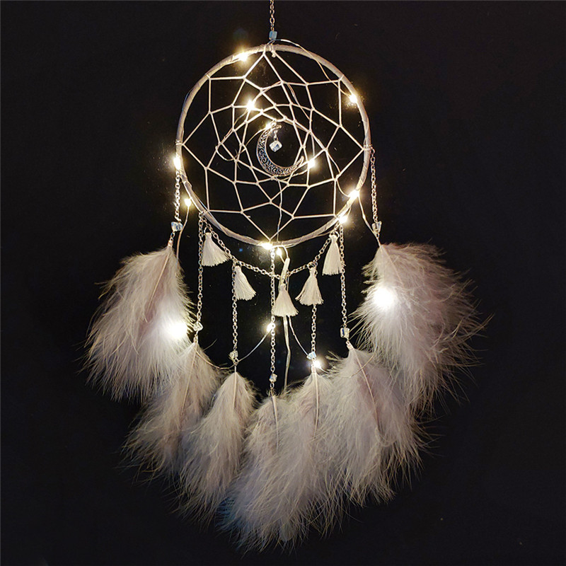 Led Nordic Dream Catcher Lights For Child Lady Hanging Dwelling Wall Bed room Dreamcatcher Reward For Children Marriage ceremony Get together Ornament