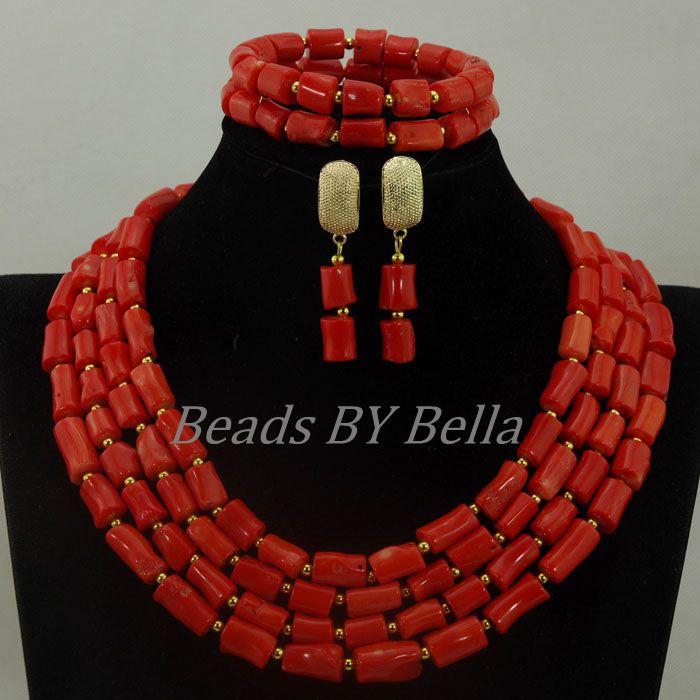 L'arrivée de nouveaux déclaration collier pour les femmes mariage Nigerian perles africaines ensemble de bijoux bijoux de mariage indien livraison gratuite ABK944