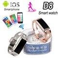D8 bluetooth inteligente relógio banda bangle pulseira smartband sincronização phone call/pedômetro/anti-perdida para samsung htc android ios telefone