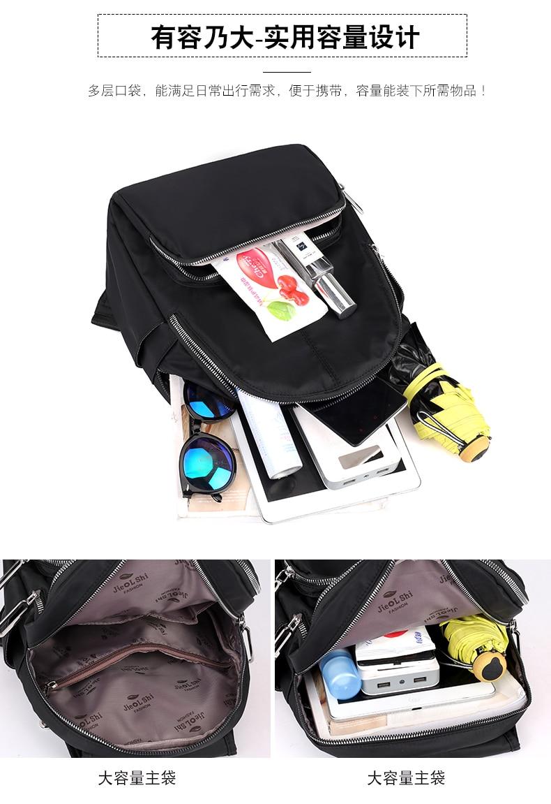 Leve náilon mochila impermeável respirável tecido marca