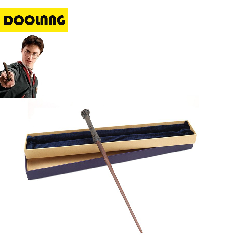 DOOLNNG Metal Core Harry Potter Magic Wand/ Harry Potter Magical Wand /Harry Potter Stick/DL-M04 Children Gift Dropshipping 2style cosplay albus dumbledore play magical magic wand gift in box metal core harry potter magical wand
