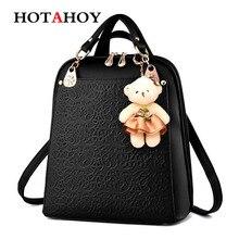 Hotahoy женщины рюкзак кожа PU сумка молнии в духе колледжа Школьные ранцы для подростков девочек рюкзак Mochila