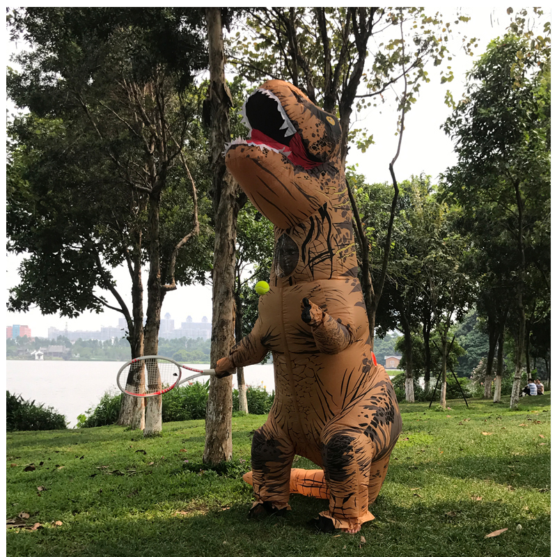 Adult T REX Costume Inflatable Dinosaur Party Costume Suit For Anime disfraces adultos costume Halloween Costumes for Women Men (20)