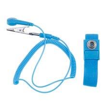 Anti estática pulseira eletrostática sem fio ajustável esd cabo de descarga sem fio alça de banda de pulso mão com pulseira de reposição