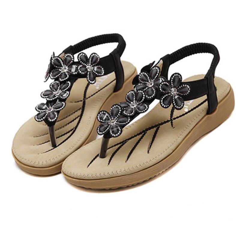 e6d144bce8ad5 SIKETU Hot Sale Women Sandals Flowers Rhinestone Flip Flops Low Heels  Wedges Sandals Women Shoes Summer Plus Size 35 41 WSH2397-in Low Heels from  Shoes on ...