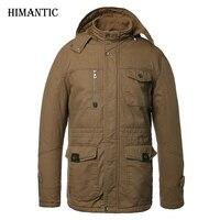 冬のジャケット男性カジュアル綿厚い暖かいコートメンズ生き抜くパーカープラスサイズ4xlコート防風雪軍事ジャケッ