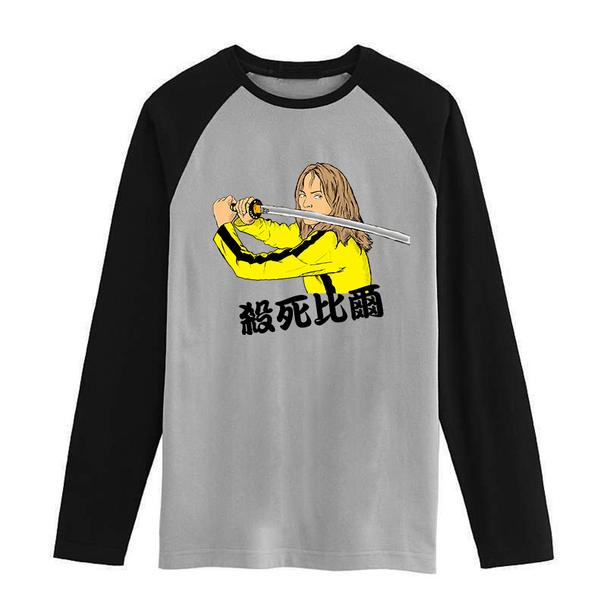 blade runner kill bill fight club Vintage fashion men women size raglan full sleeves long sleeves t shirt item NO. FLBMSS-047