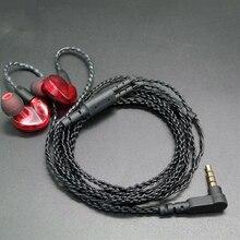 Bricolage dans loreille écouteur MMCX câble pour Shure SE215 SE535 SE846 UE900 remplacement amélioré 14 noyaux cuivre torsion Audio cordon avec micro