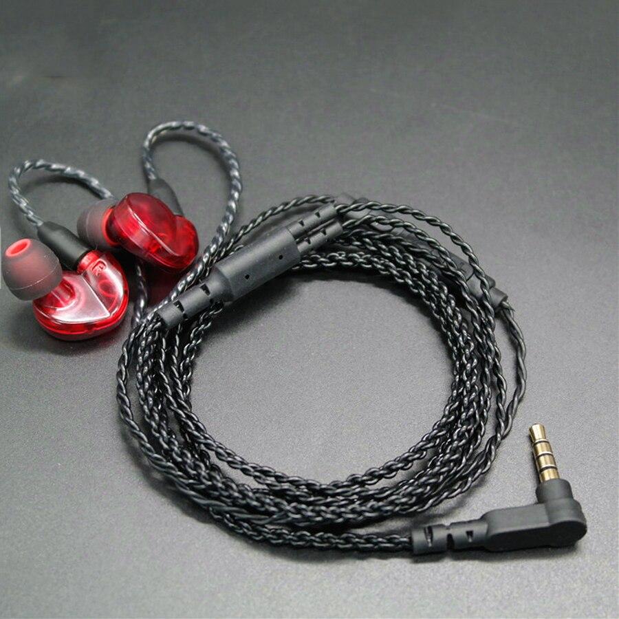 DIY In-ohr Kopfhörer MMCX Kabel für Shure SE215 SE535 SE846 UE900 Verbesserte Ersatz 14 Kerne Kupfer Twist Audio Kabel mit MIC