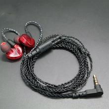 DIY Kulak Içi Kulaklık MMCX Kablo Shure SE215 SE535 SE846 UE900 Yükseltilmiş Değiştirme 14 Çekirdek Bakır Büküm Ses Kablosu MIC
