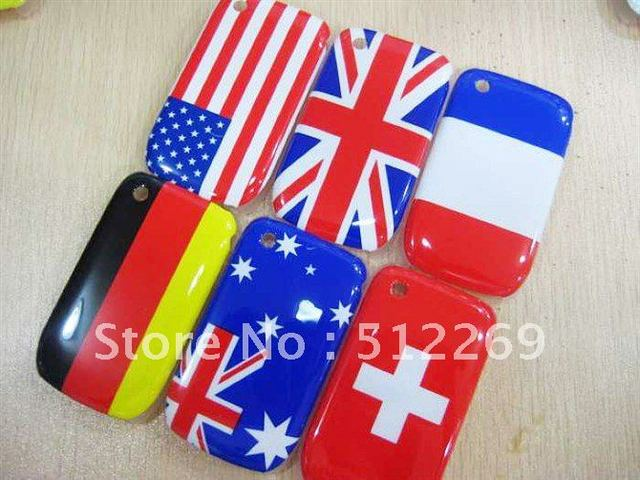 Hot Sale Colorful National Flag TPU Leather Case Cover For Blackberry Curve 8520 9300 50pcs/lot + Free Shipping