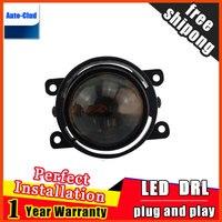 Car Styling HID Double light lens fog lamp for Peugeo 206 2006 2012 for foglight 2 function