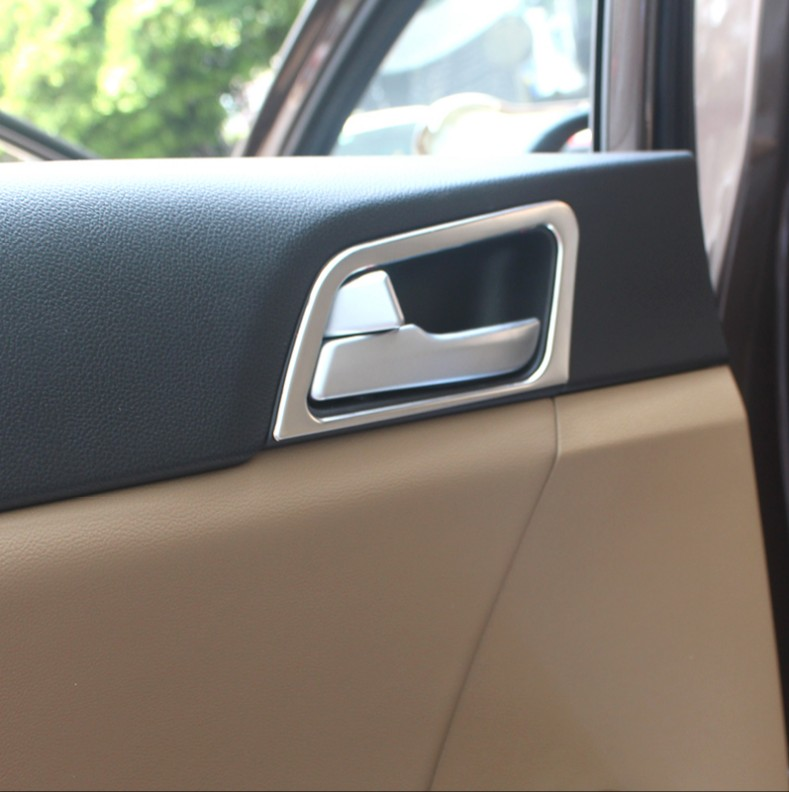 ABS Chrome Interior Door Handle Bowl Trim For Kia K5 Optima 2016-2017 LHD