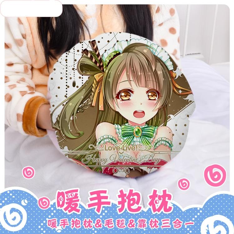 Anime LoveLive! Kotori Minami Cosplay Round Plush Doll Cushion Hand Warmer Pillow Stuffed Toys Cute Christmas Birthday Gift