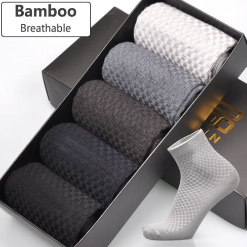 Men Bamboo Fiber Socks Brand New Casual Business Anti-Bacterial Deodorant Breatheable Man Long Sock