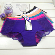 New Hot Cotton with Lace Side best quality Underwear Women sexy panties Casual Intimates female Briefs Cute Lingerie N826