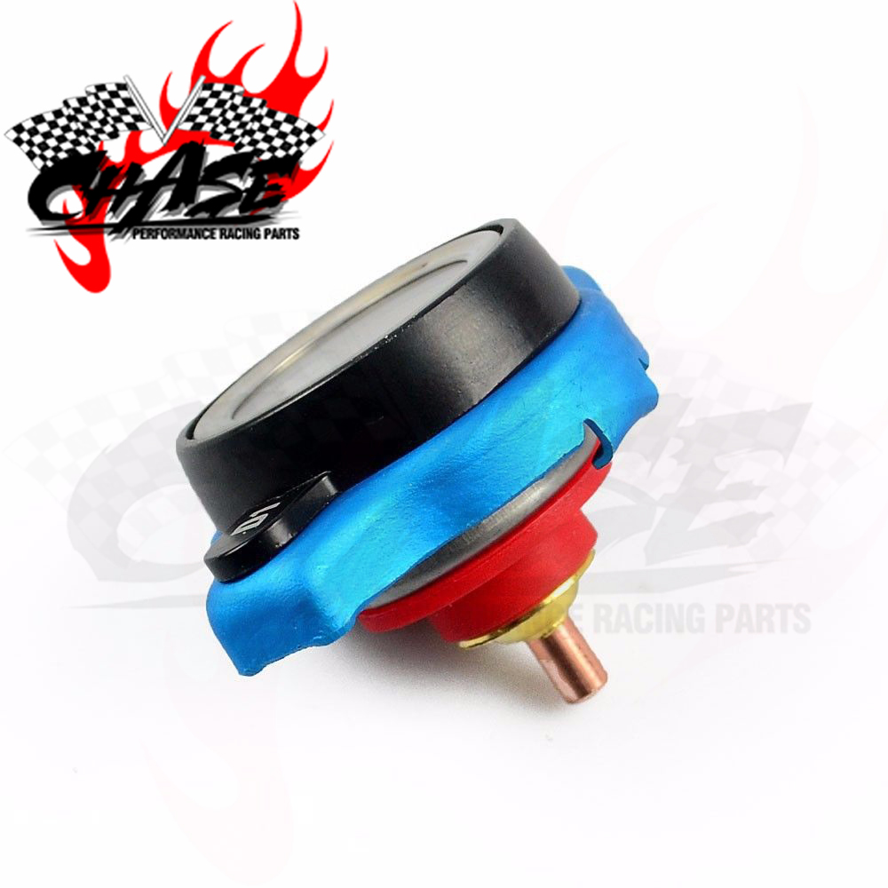 YUSSEF Car Motorcycle Temperature Gauge Radiator Cap Tank Cover Small Head with 0.9 and 1.1 and 1.3 bar Utility Safe Thermo