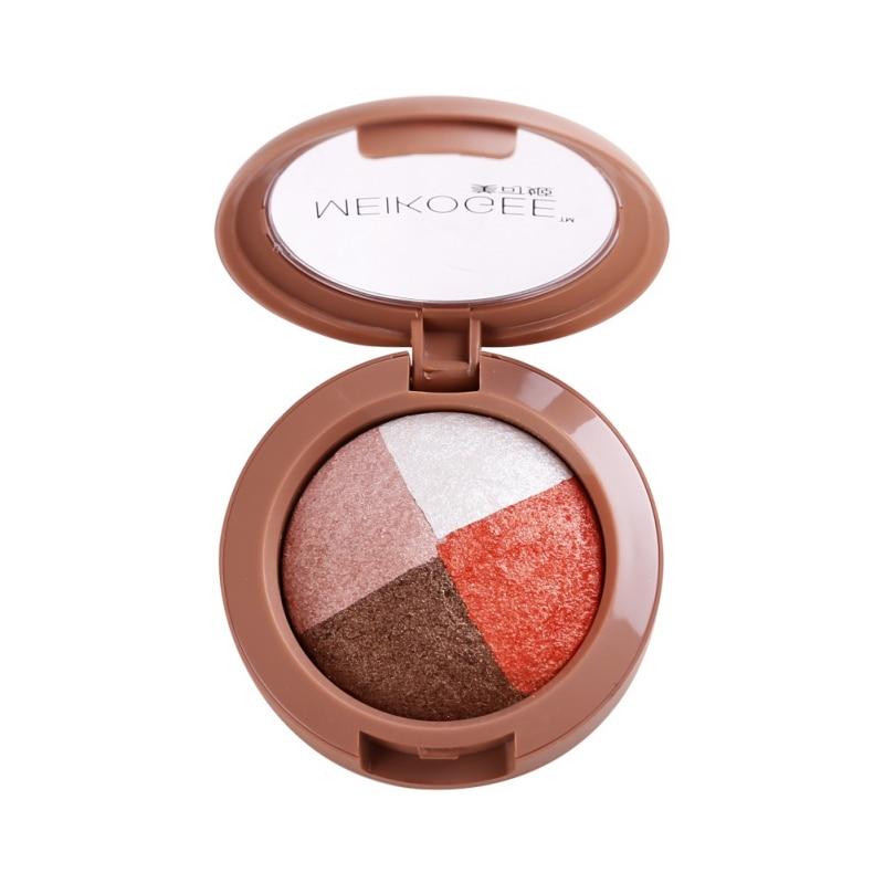 4 Color Eyes Makeup Waterproof Long Lasting Pearlescent Baking Shimmer Eyes Eyeshadow Palette Cosmetic