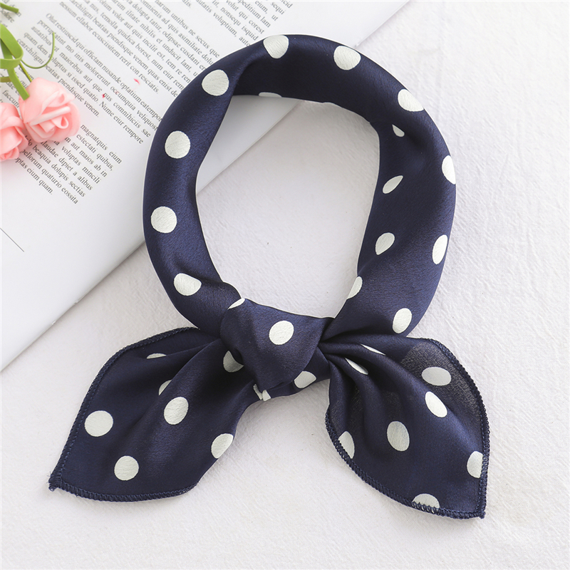 2020 Women Scarf Skinny Retro Head Small Size Silk Scarves Square NeckerChief Office Lady Scarves Print Shawls 50*50cm Foulard