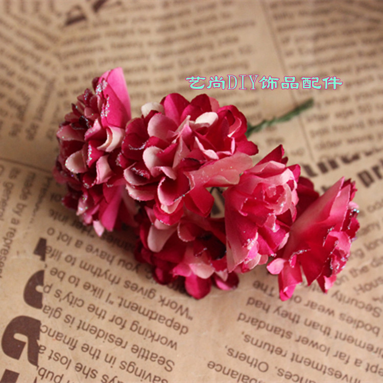 4CM Artificial Carnations Flowers,Glitter Carnation Tissue Paper ...