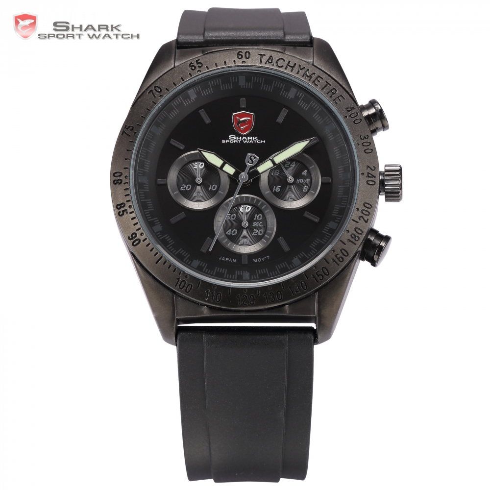 SHARK Sport Watch Luminous Hands Relogio Masculino Auto Date Day Display Erkek Kol Saati Clock Men Military Wristwatch / SH274 shark sport watch black relogio 6 hands