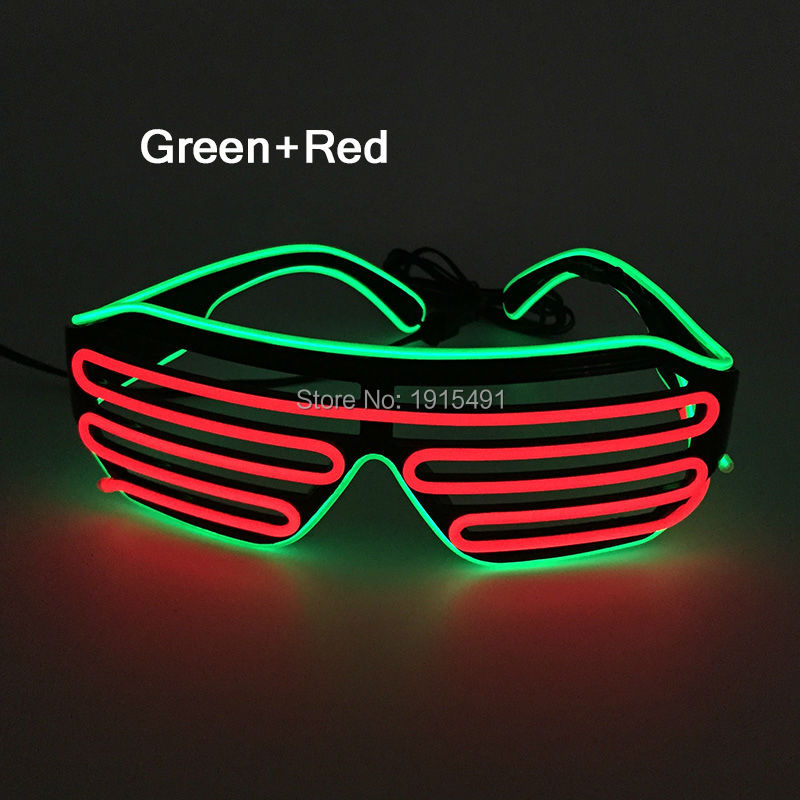 Free Shipping Lovely Colorful Event Party Supplies EL Wire Sunglasses Holiday Lighting Attractive Neon Led Glasses With 3V Drive