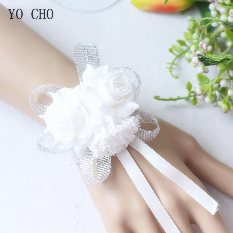 wrist corsage bracelet band bridesmaids flowers (104)