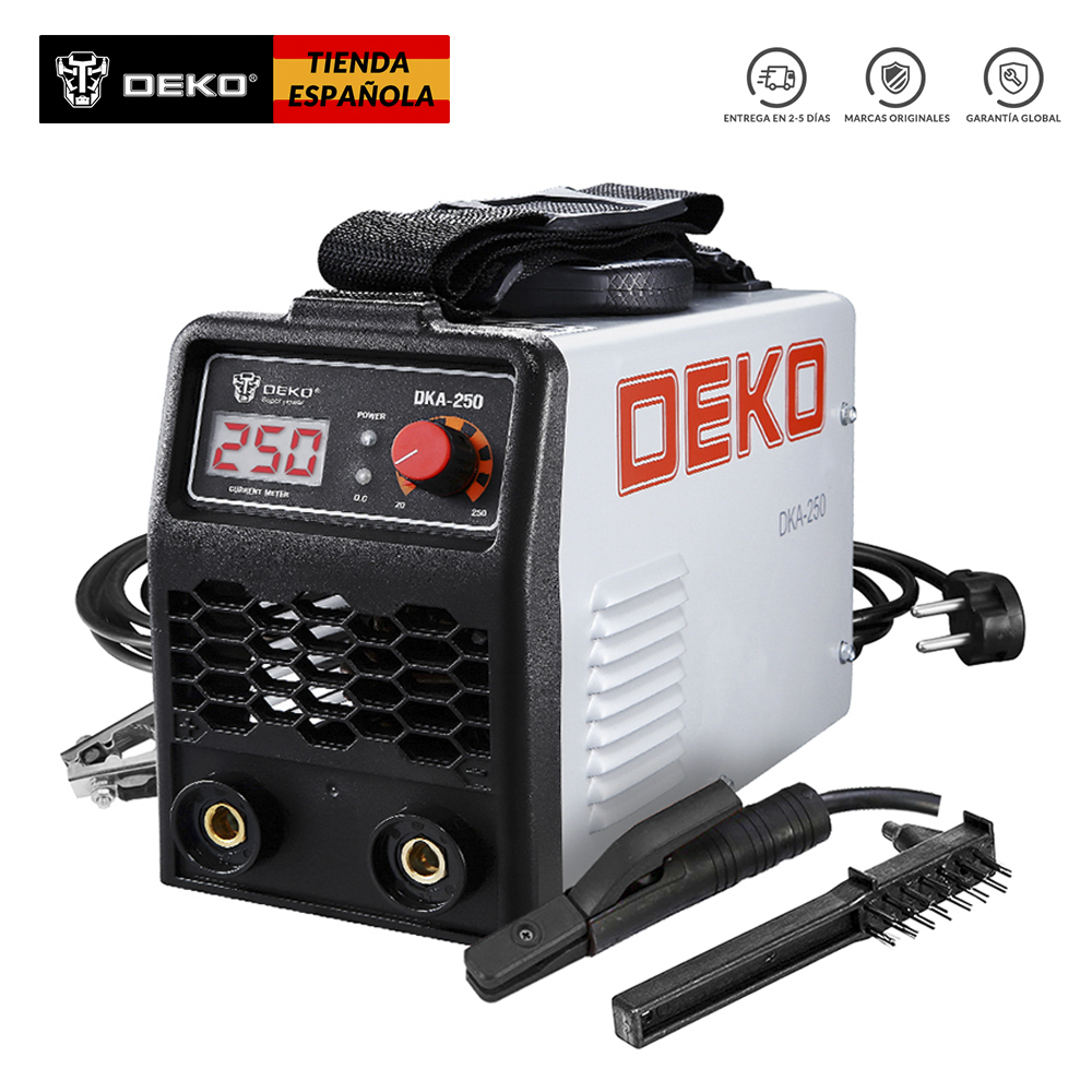 DEKO 220V 250A IGBT Inverter AC Arc Welding Machine MMA Welder For Welding Working And Electric Working W With Accessories