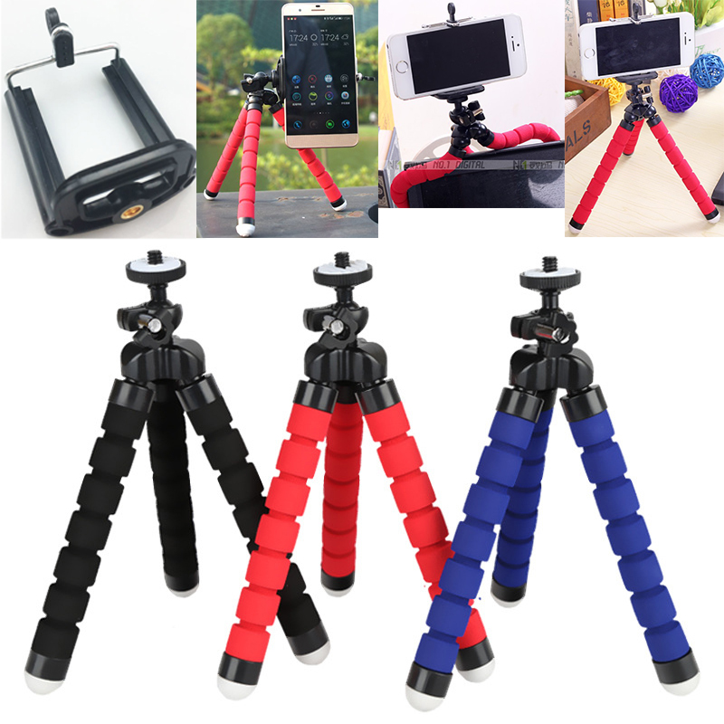 Tripod For Phone Flexible Sponge Octopus Mini Tripod For IPhone Mini Camera Tripod Phone Holder Clip Stand(China)