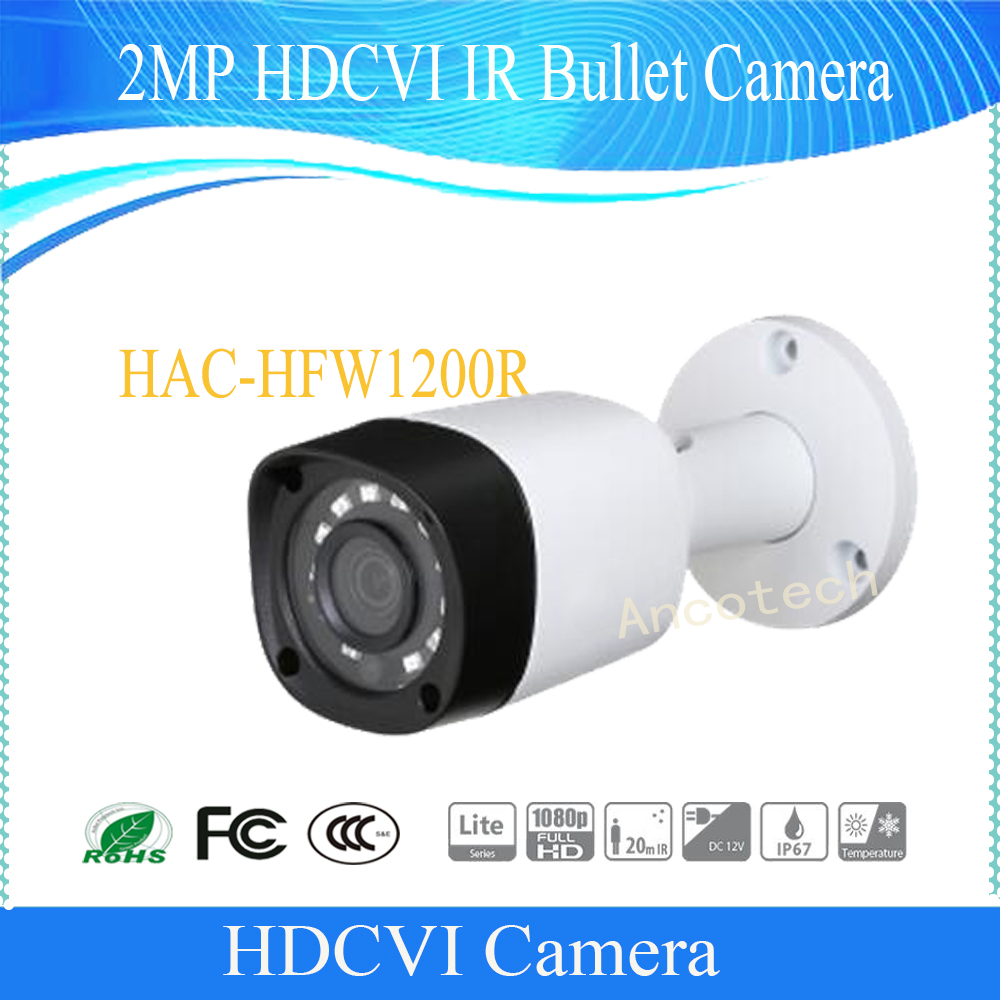 Free Shipping DAHUA CCTV Outdoor Camera 2MP 1080P IR Waterproof HDCVI Bullet Camera Outdoor Camera with Fixed Lens HAC-HFW1200R wistino cctv camera metal housing outdoor use waterproof bullet casing for ip camera hot sale white color cover case