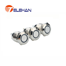 TELEHAN Push Button, push button switch,12mm metal button switch, momentary push button, led metal  button switch цена