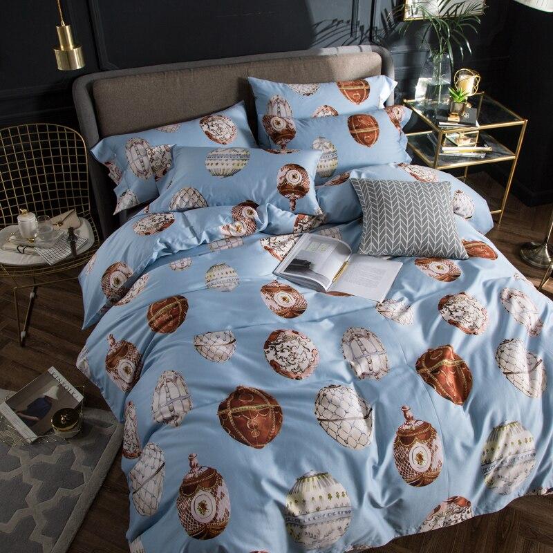 100% постельное белье из египетского хлопка; комплекты одежды с изображением совы и постельного белья (простынь, наволочки для подушек и Стёг... - 2