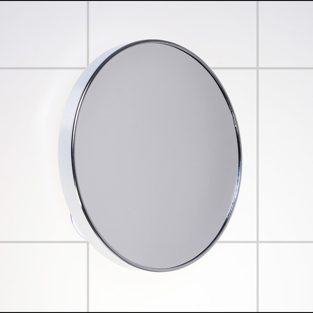 Springquan 6 Inch Metal Mirror Suction Cups On The Wall Bathroom Mirror5x Magnifying High Definition