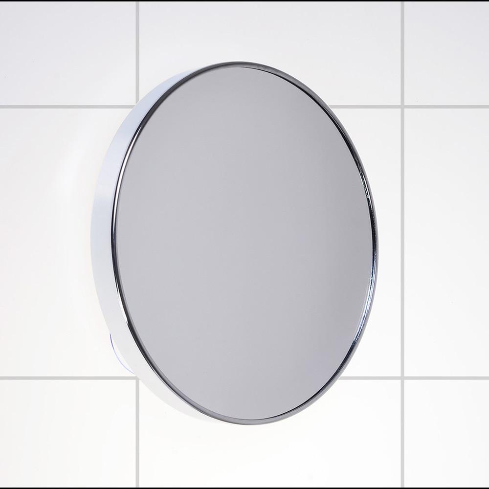 SpringQuan 8 inch metalen spiegel Zuignappen aan de wand badkamerspiegel 5X vergrotende high definition wandspiegel